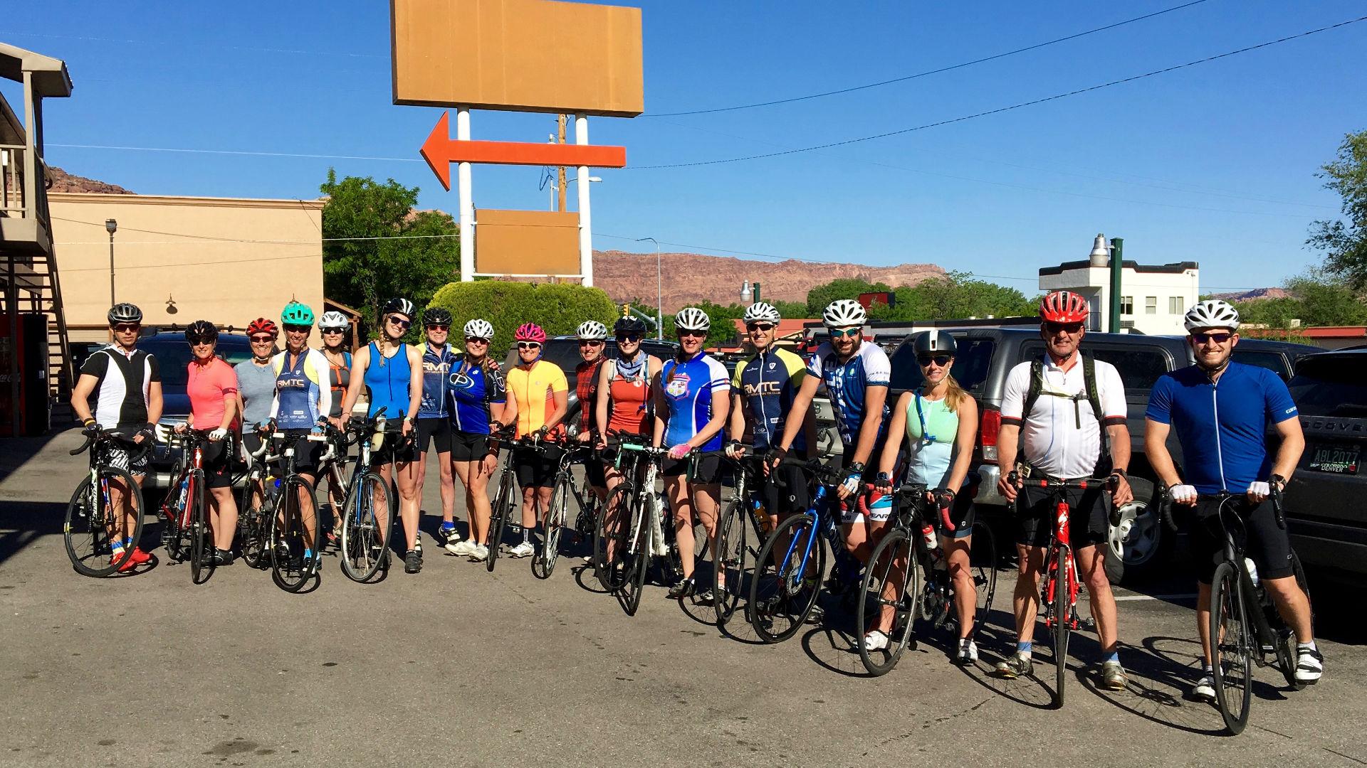 RMTC Members Posing on Bikes